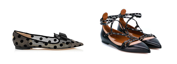 Flats by Jimmy Choo and Valentino