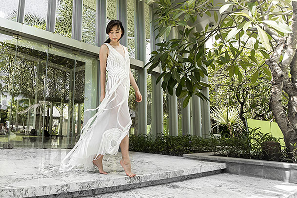 The Example in Bali - Julie Goodwin Couture Melbourne couturier