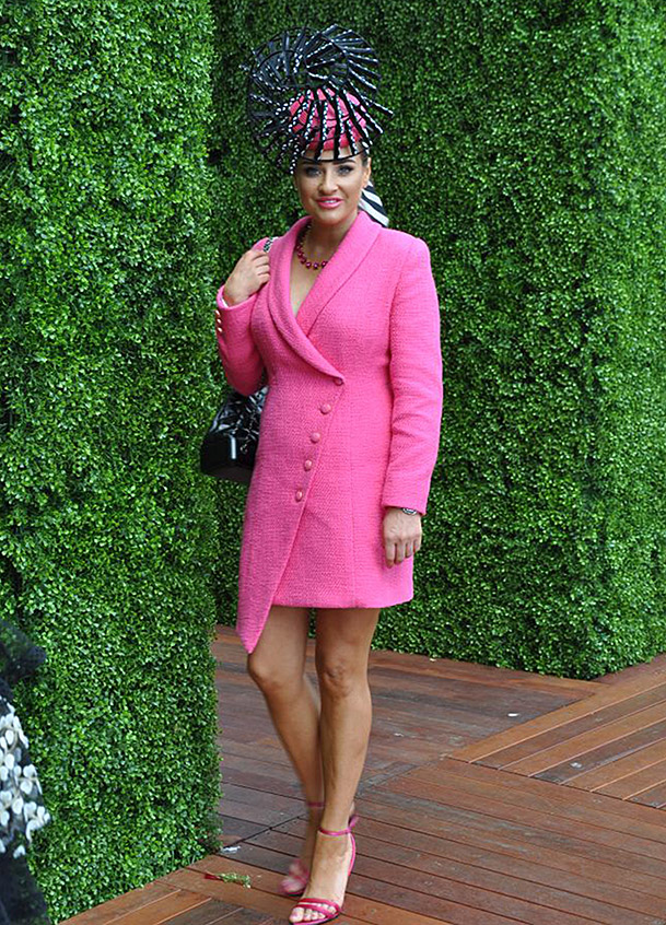 Brodie Worrell on Oaks Day by Julie Goodwin Couture